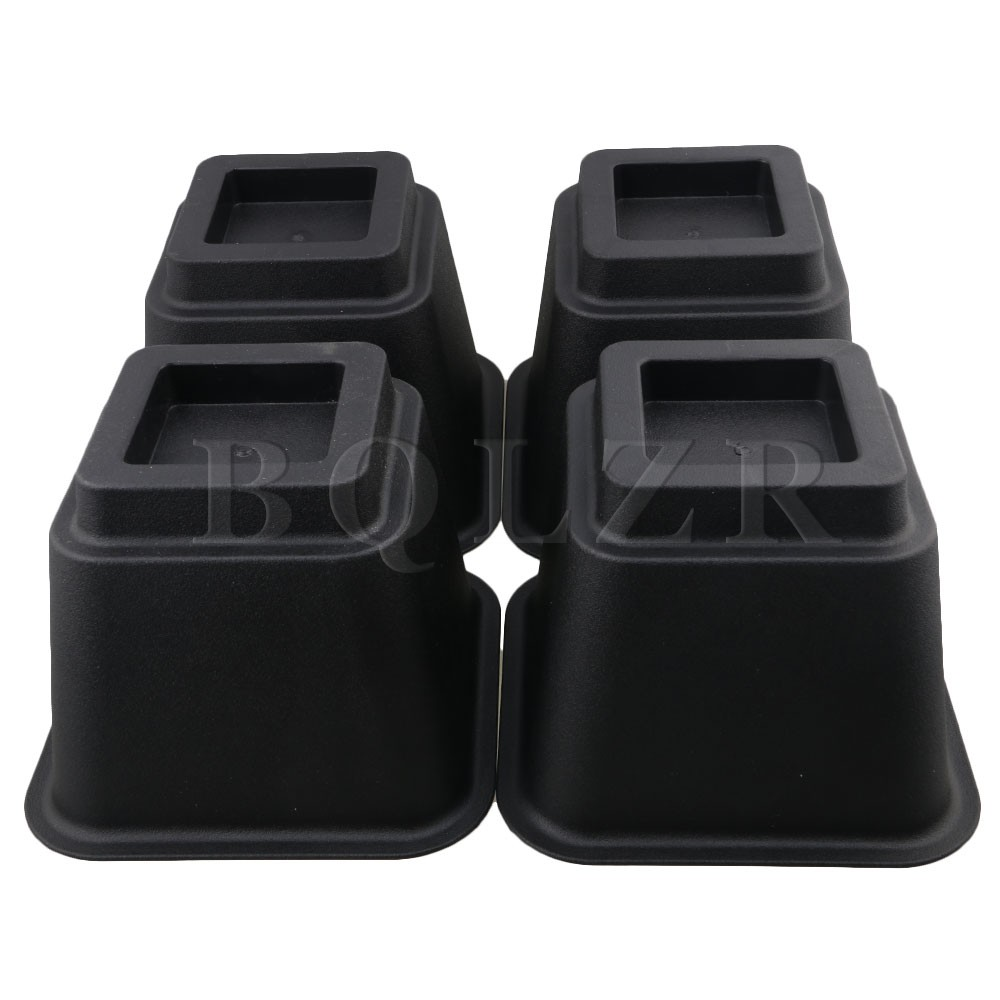 BQLZR 4piece 5 .9 Inch Home Solutions Black Regular Prismoid Lift Furniture Risers Height to Heavy Furniture or Beds bqlzr diy 9 1x10x5cm black plastic left