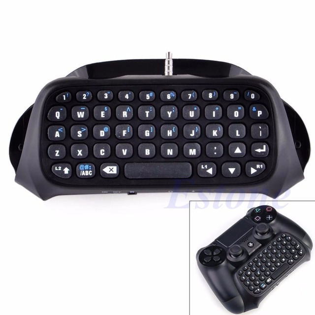 Wireless Bluetooth Keyboard Keypad Chatpad For PS4 Game Controller