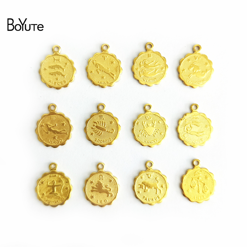 Rose Gold-plated Silver 22mm Chinese Zodiacs Rich Pendant
