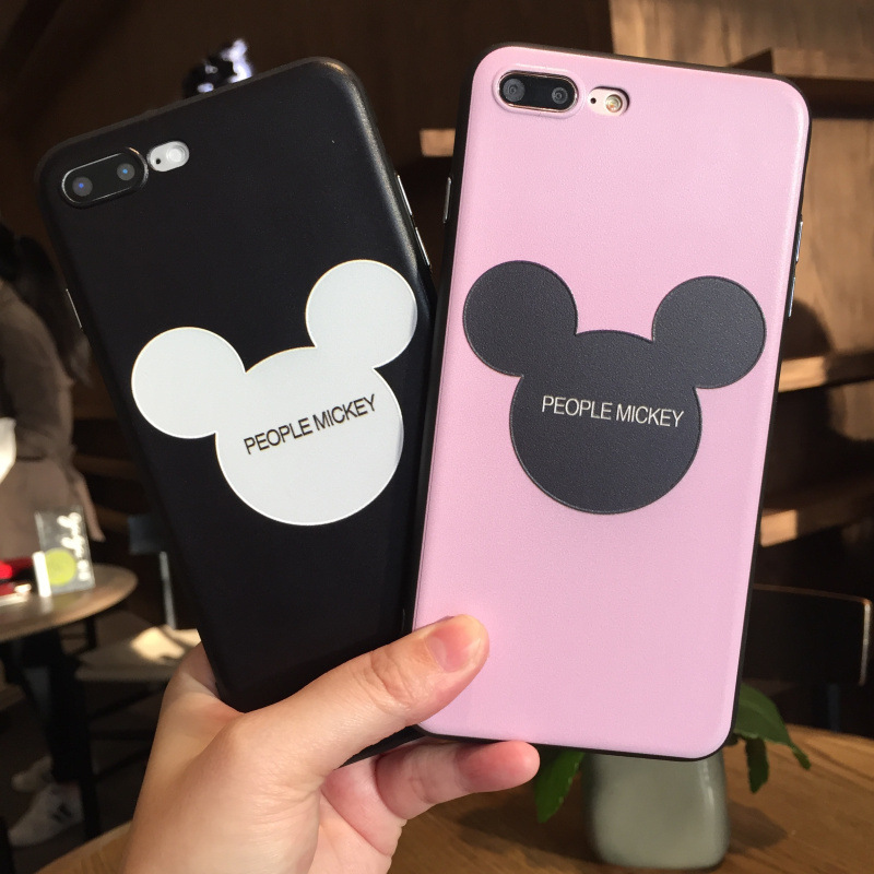 Mickey Minnie Mouse Soft silicone cases cover for Coque iphone 6 6S 7 8 plus 360 IMD for iPhone6 iPhone7 iPhone 8 Case Micky