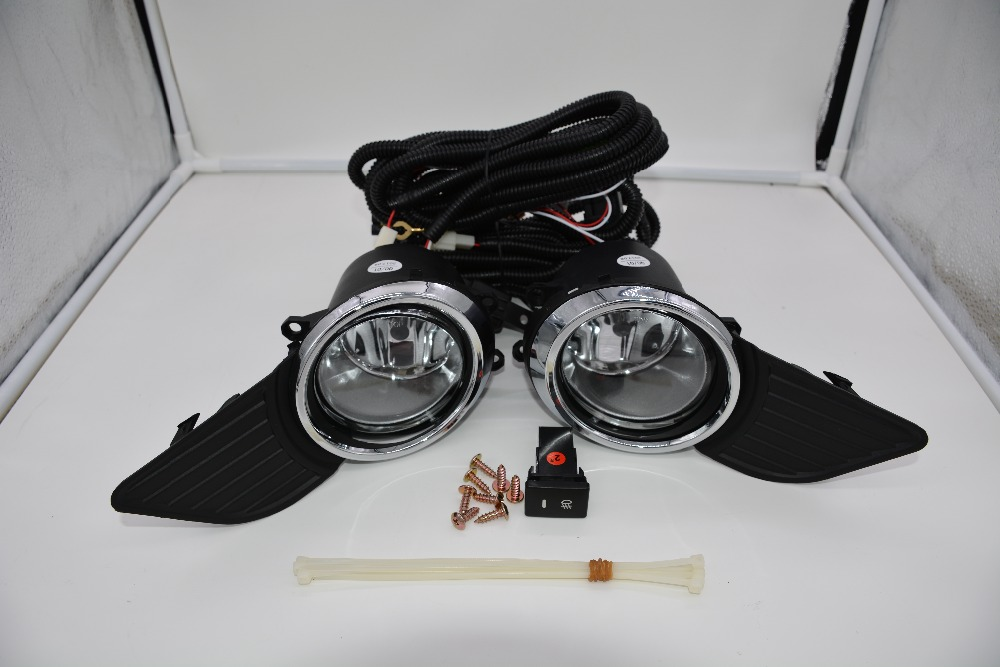 eOsuns halogen fog lamp with wires harness, switch, fog lamp house and frame cover complete kit for toyota sienna 2012 2013 new halogen fog light lamp with wires and button for toyota corolla 2014 altis
