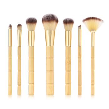BBL 7pcs Bamboo Makeup Brushes Set Portable Face Powder Highlighter Blush Concealer Tapered Blending Eyeshadow Eyebrow Brush Kit 1