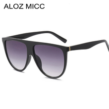 ALOZ MICC Brand Fashion Women Big Frame Acetic Square Sunglasses Vintage  Designer Lady Eyewear UV400 Oculos De Sol Q149