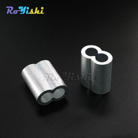 1000pcs/pack 3mm Aluminum Cable Crimps Sleeves Rope Clip Fittings Loop Sleeve