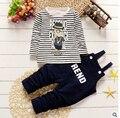 Весна и осень мужской костюм детей лет младенцы две наборы ремни leisure suit Корейской версии исходящих прилив