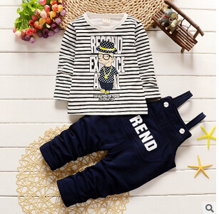 spring and autumn male suit children years old infants two sets of straps  leisure suit Korean version of the outgoing tide