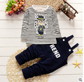 Primavera e no outono masculino terno crianças anos de idade os bebês dois conjuntos de correias de terno do lazer versão Coreana da saída maré