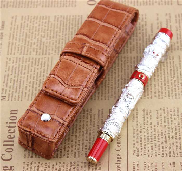 send a refill ballpoint Pen metal School Office supplies dragon roller ball pens high quality luxury business gift 006 white jinhao ballpoint pen and pen bag school office stationery roller ball pens men women business gift send a refill 012