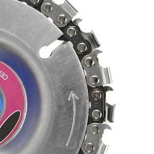 Image 3 - ล้อถ้วยบดอุปกรณ์เปลี่ยนแกะสลักโลหะผสมเงิน W/ตัดโซ่ขัดมุมตัด Chainsaw