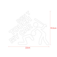 Waterproof Car Sticker Decorative Super Cool Don't Touch My Car Printed Sticker