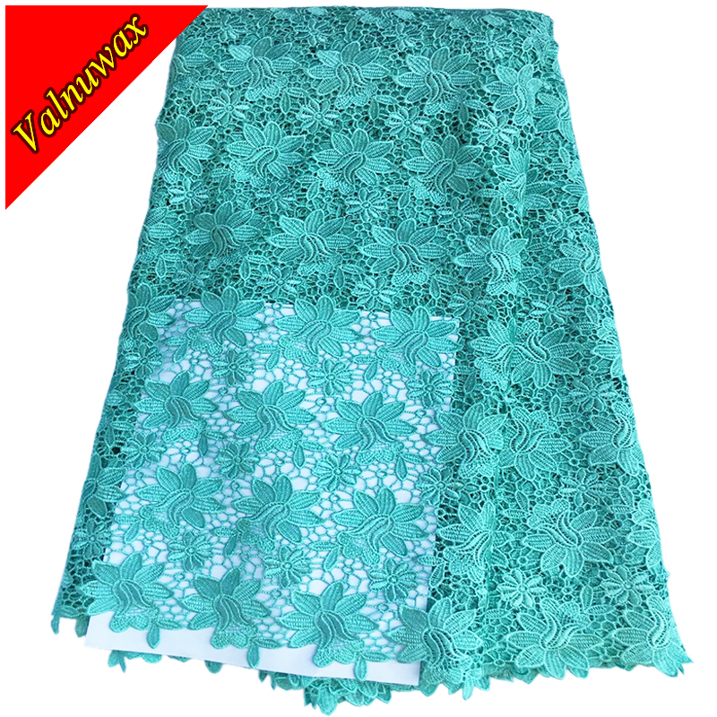 High quality African Lace Fabric wedding lace fabric Guipure cord lace fabric 5YARDS 3 colors for wedding dress YJ