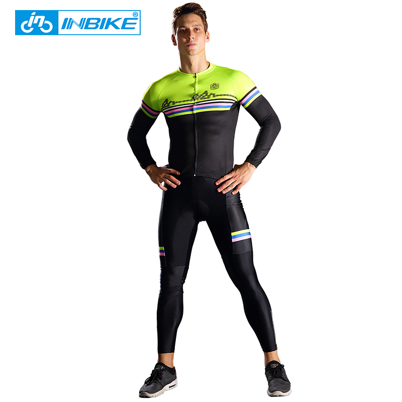 INBIKE 2017 Sports Wear Mens Cycling Jersey Polyester Cycling Clothing Bike Shirt Summer Quick Dry Mtb Bicycle Wear Ciclismo summer sports cycling clothes men s cycling jersey sets breathable quick dry mountain bike sports wear for spring women new