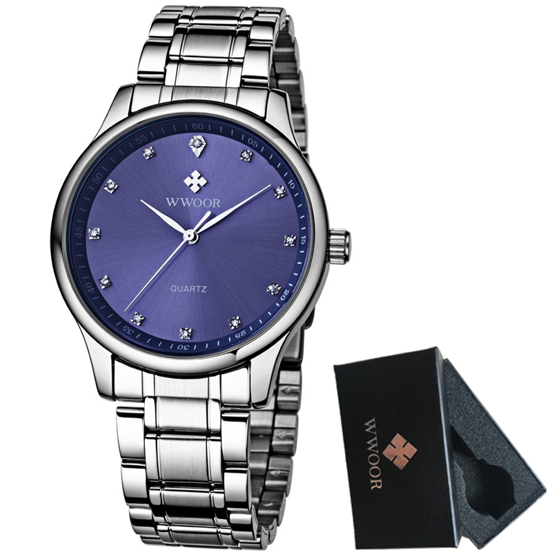 WWOOR Reloj de Cuarzo para Hombres Relojes de Marca de Lujo para - Relojes para hombres