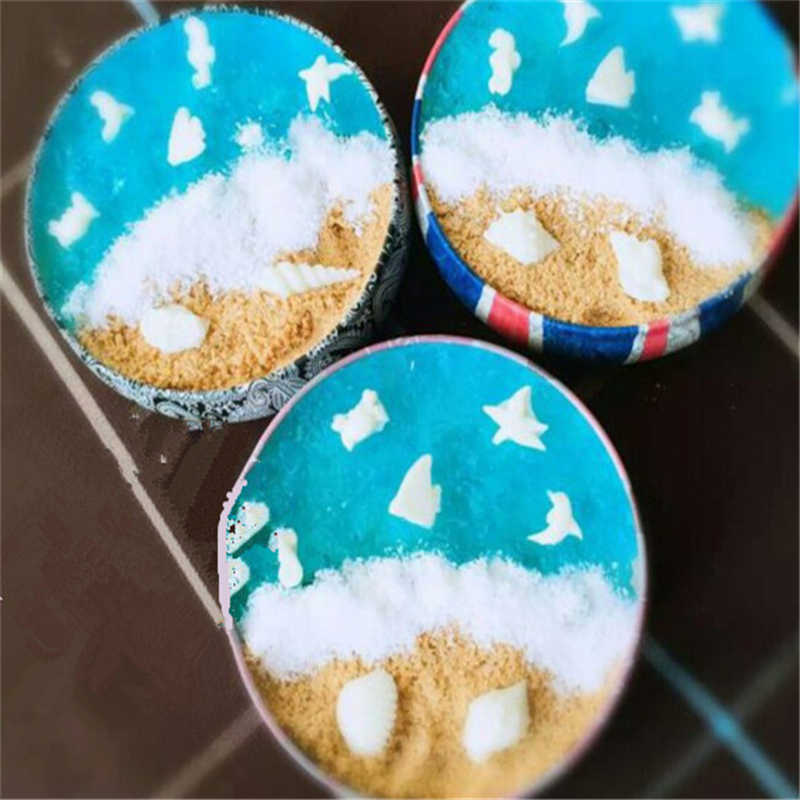 2019 Fashion Portable Round Tea Sugar Coffee Coin Storage Box Tin Box Kitchen Flower Drawing Style Gift
