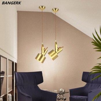 Промышленный Лофт медный винтажный светодиодный подвесной светильник, антикварная вращающаяся Подвесная лампа, Скандинавский дизайн, под...