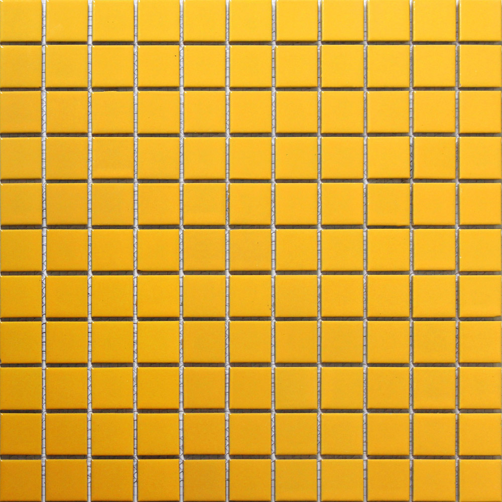 yellow square ceramic mosaic tile kitchen backsplash tile bathroom ...