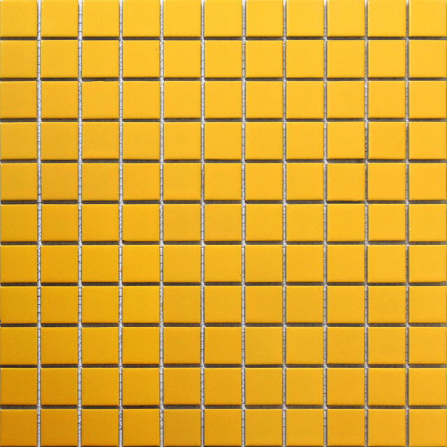 Yellow Square Ceramic Mosaic Tile Kitchen Backsplash Bathroom Swimming Pool Wall Tiles Shower Background Porcelain