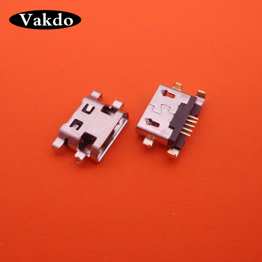 50PCS/lot Micro Mini USB Charging Port Jack Socket Connector For Lenovo A708t S890 / For Alcatel 7040N / For HuaWei G7 G7-TL00