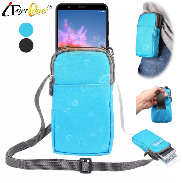 online store bcb37 1f5d6 US $3.78 5% OFF|Waterproof Nylon Pouch Case for Huawei Honor 10 9 8 View 10  V10 V9 V8 7x 7c 7A Pro 6C 6A P Smart Phone Waist Wallet Bag Cover-in Phone  ...