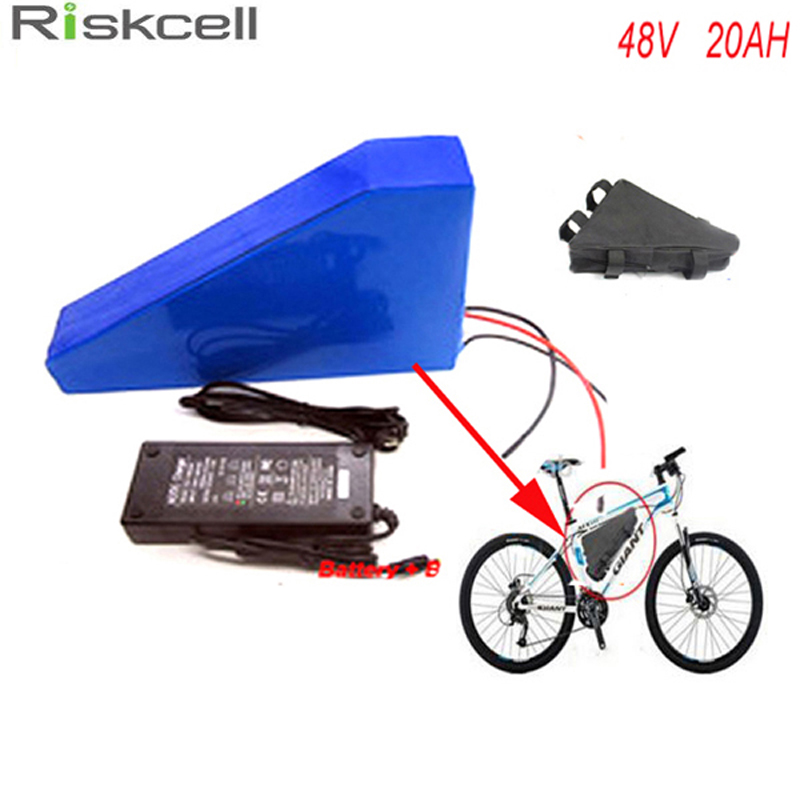 Free battery  bag ebike lithium battery 48v 20ah lithium ion battery  48v electric scooter battery for kit electric bike 1000w 48v 34ah triangle lithium battery 48v ebike battery 48v 1000w li ion battery pack for electric bicycle for lg 18650 cell