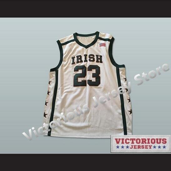2ae567ed9b03 Minanser Lebron James 23 Fighting Irish High School Basketball Jersey Men