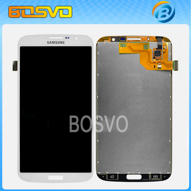ФОТО 1PCS White / Dark Blue LCD Display and Touch Screen Digitizer For Samsung for Galaxy Mega 6.3 i9200 Free Shipping