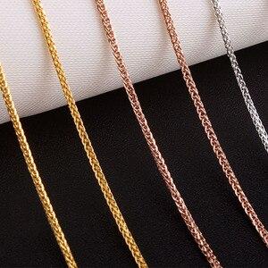 Image 3 - 18 18k ゴールド女性ネックレスペンダント女性ダイヤモンドジュエリーロープチェーンパーティー流行のホット販売エレガントなファッションの女の子ギフトグッド