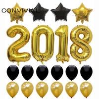 24 sztuk 40 calowy Nowy Rok 2018 Zestaw Strona Dekoracji Balony Lateksowe Balon Globos Boże Narodzenie Nowy Rok Party Supplies CONVIVIAL PA80