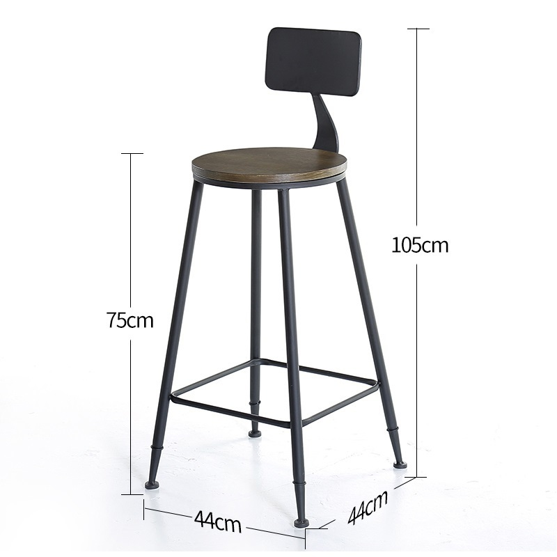 Image 2 - Taburete Fauteuil Sandalyesi Hokery Sedia Banqueta Todos Tipos Shabby Chic Tabouret De Moderne Stool Modern Silla Bar Chair-in Bar Chairs from Furniture