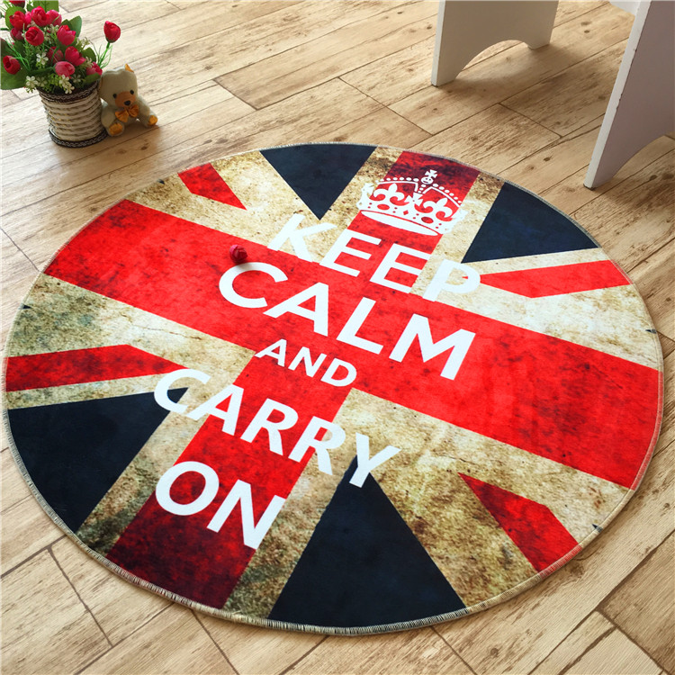 Retro British Flag Large Rugs Round Carpets Area Rug For