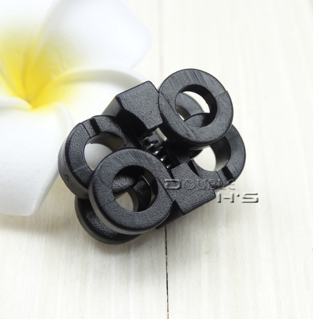 Plastic Rope Clamp Cord Lock Stopper Slider Shoes Lace Buckle Paracord wholesale