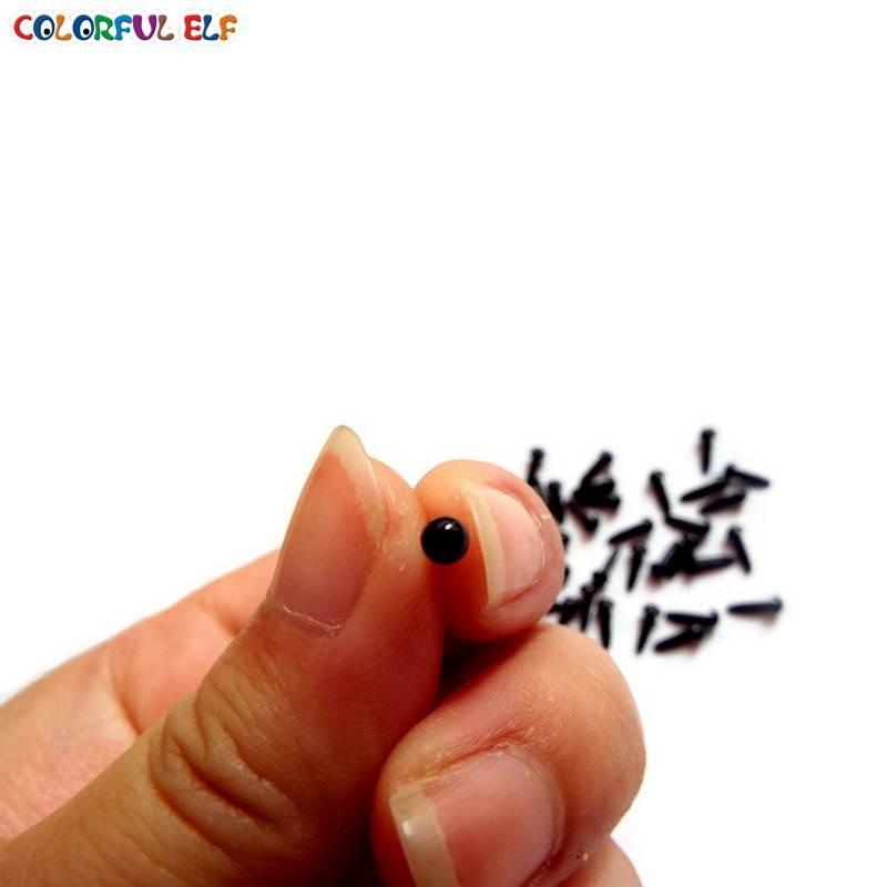 Gratis Pengiriman 3mm 200pcs Keselamatan Hitam Hewan Amigurumi Mata - Boneka dan mainan lunak - Foto 4