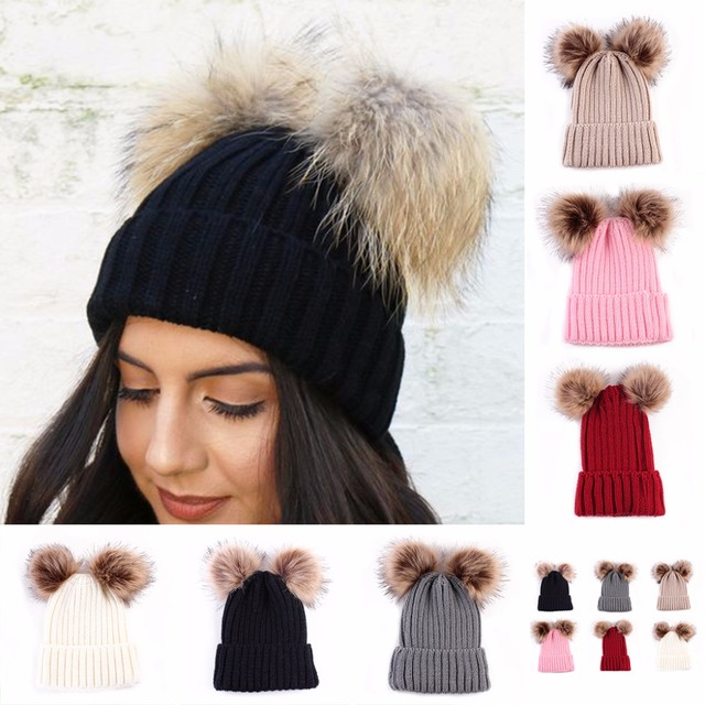 b4c2882f0 US $3.86 30% OFF|Braided Crochet Knit Beanie Beret Ski Ball Cap Baggy  Womens Winter Warm Hat New 2017 Baby&Mom-in Hats & Caps from Mother & Kids  on ...