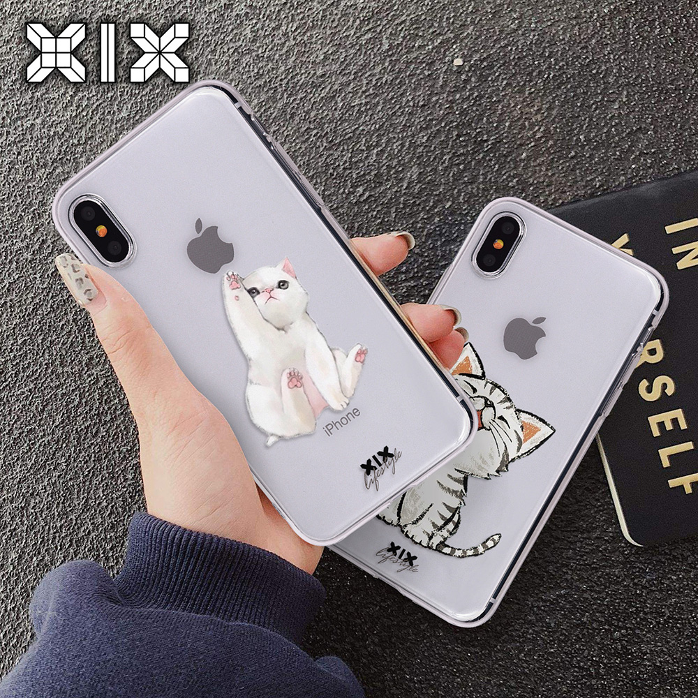 For funda iPhone 5S case 5 6 6S 7 Plus Cute Cat soft silicone TPU for coque new arrival capa