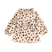 Cotton Infant Baby Bodysuit Jumpsuit Outfit Spring Baby Clothing Long Sleeve Leopard Print Toddler Girls Bodusuit