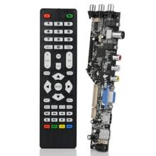 DD3663LUA.A82 15-32inch digital DVB-T/C/T2 universal TV lcd control board TV/VGA/AV/HDMI/USB for lvds 1/2ch 6/8 bit LVDSpanel 1set dvb s2 dvb t2 dvb c digital signal atv driver lcd remote control board launcher universal dual usb media qt526c v1 1