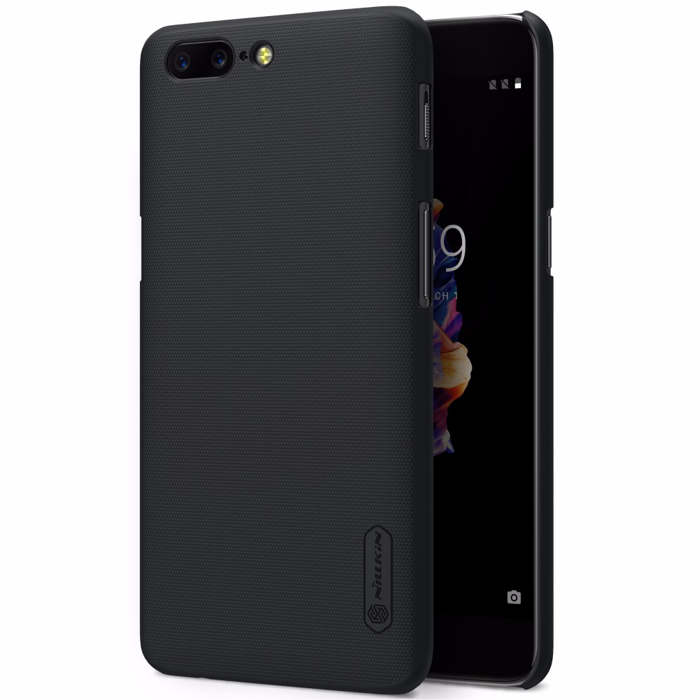 oneplus 5 funda original oneplus 5 funda NILLKIN Super Frosted Shield fundas protectoras con respaldo rígido funda one plus 5