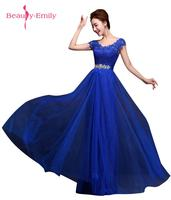 Beauty Emily 2017 Fashion Custom-made Long Red Evening Dress V-Neck A-line Sleeveless Lace Up Bride Dresses Party Prom Dresses
