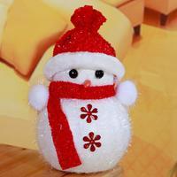 12 stks/partij X'mas Tafel Decoratie Santa Sneeuwpop Stijl Opknoping Accessoires Kerstboom Decoratieve Ornamenten HX520