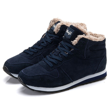 New Men Winter boots Men Boots Snow Plush Inside Men Winter Shoes Men Shoes Keep Warm Boots Blue