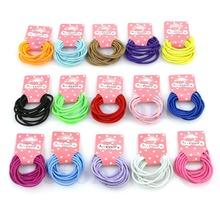 New Lot 10Pcs Girl Kids  Tiny Hair Bands Elastic Ties Ponytail Holder