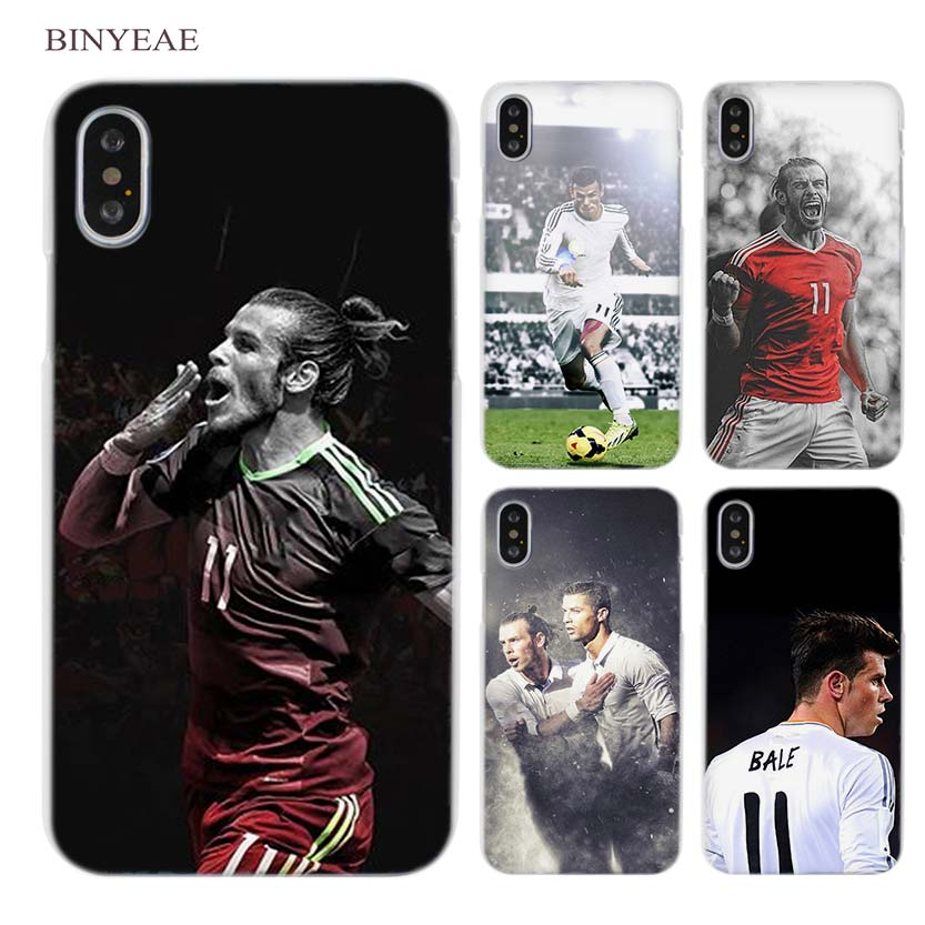 BINYEAE Gareth Bale GB11 Clear Cell Phone Hard Case Cover for iPhone X 6 6s 7 8 Plus 5 5s SE 5c 4 4s