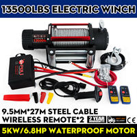 New Electric Winch Rope 12V Traction 6123KG 13500lbs Boat Rope Cable Winch Motor