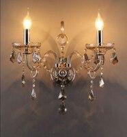 Винтаж светодиодный стены свечах 1 2 оружие Ночной Зеркало Настенный бра внутреннего освещения светодиодный настенные светильники Ванная к