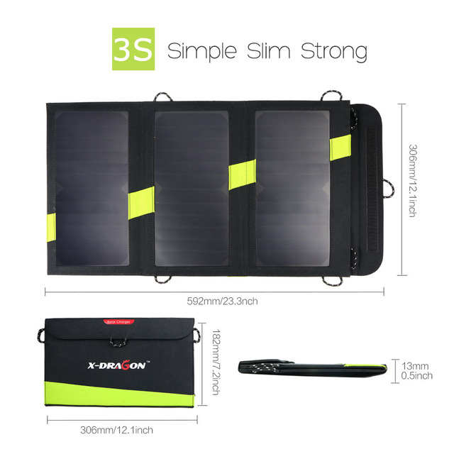 Foldable Portable Solar Panels Charger 5V 20W Solar Battery Solar Mobile Phone Charger for iPhone Xiaomi Samsung HTC LG iPad