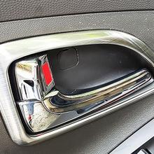 Отделка салона автомобиля двери ручной фиксации украшения из нержавеющей стали кольцо для HYUNDAI ix35 отделка авто аксессуары 4 шт. в комплекте