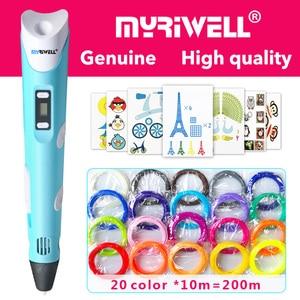 Image 1 - myriwell 3d pen 3d pens,LED display,ABS/PLA Filament,model Smart 3d printing pen Best Gift for Kidspen 3d print pen