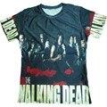 La moda de Nueva 3D T Shirt Print The Walking Dead Camiseta Divertida camisas Más El Tamaño S-5XL hombres de Poliéster de Manga Corta O-cuello de Los Hombres T-shirt