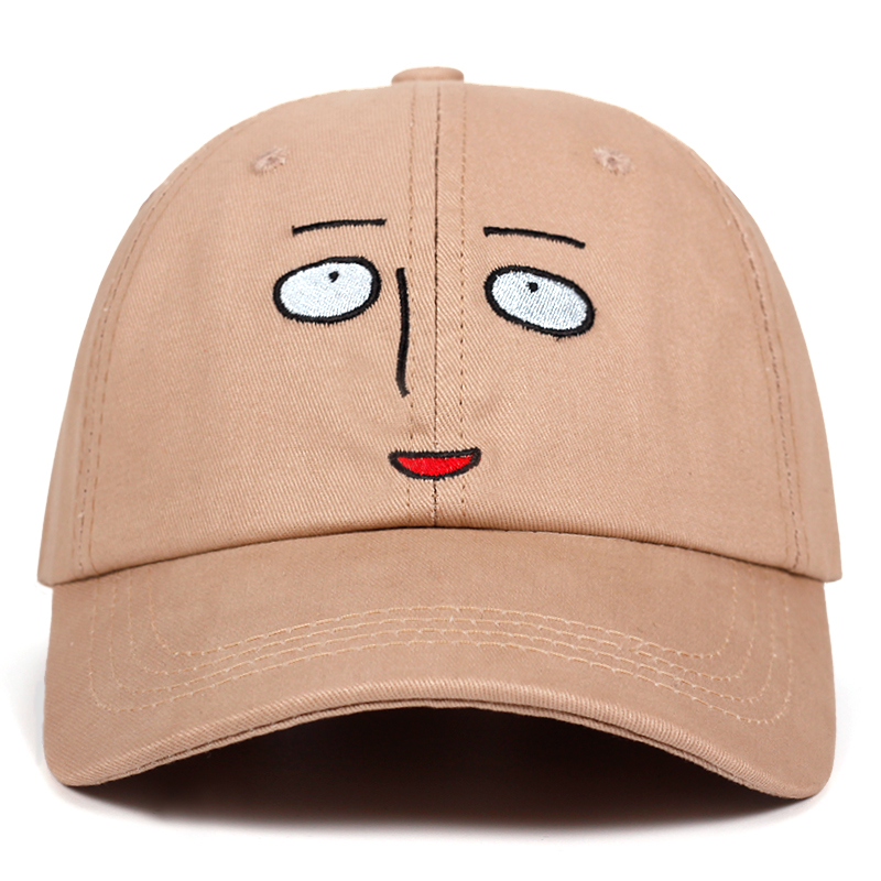Saitama teacher Dad hat ONE PUNCH-MAN   Baseball     Cap   100% Cotton Embroidery Snapback Hats Unisex Holiday   Cap   dropshipping