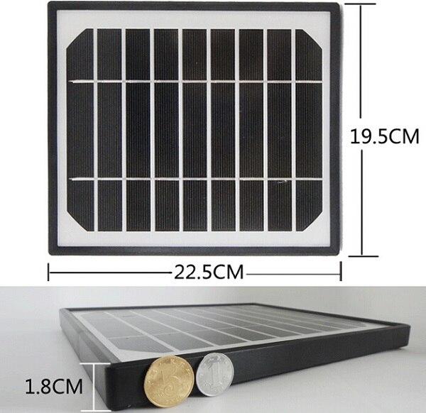 Nouveau chargeur solaire 5 W 5 V pour banques d'alimentation mobiles cellule solaire monocristalline panneau solaire USB chargeur solaire Mobile livraison gratuite